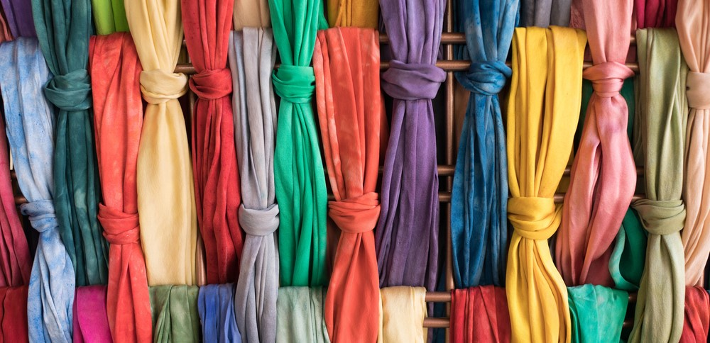 Colored Knots Of Custom Dyed Clothes