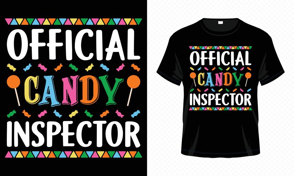 Candy Inspector Halloween T Shirt Printing