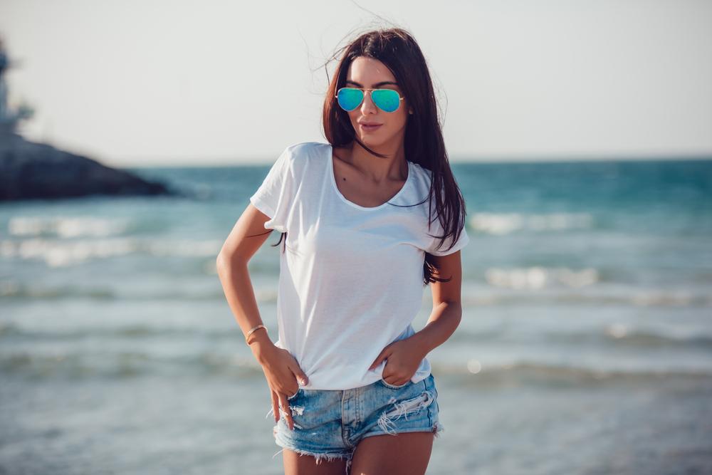 Girl In White T shirt