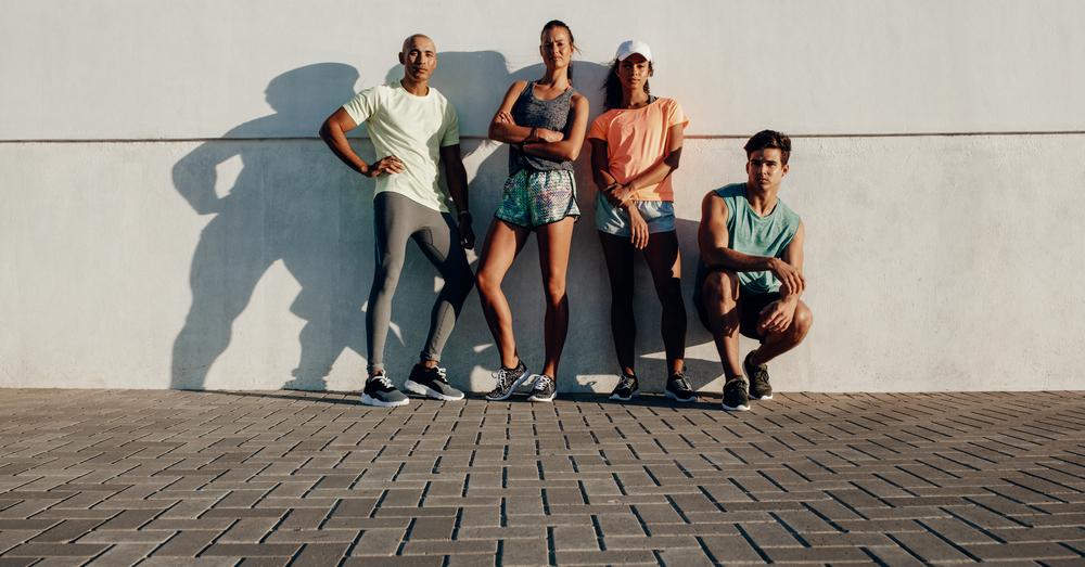 People Wearing Polyester Sportswear