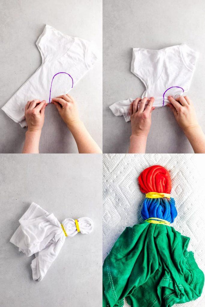 Heart Tie Dye Design Process