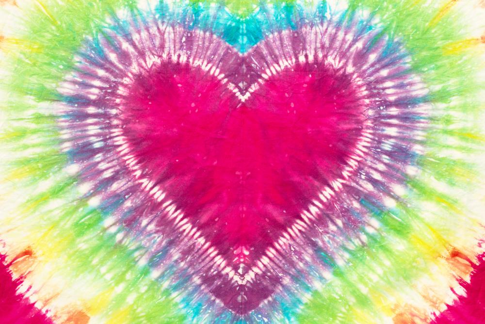 Heart Tie Dye Design